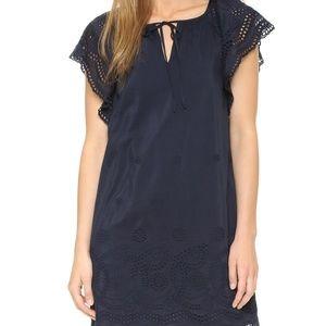 Madewell l Moontide Eyelet Navy Dress
